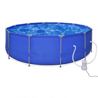 Schwimmbad Pool Schwimmbecken 457 x 122 cm + Pumpe