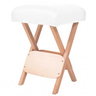 vidaXL Massage-Klapphocker mit 12 cm Dickem Sitz Weiß