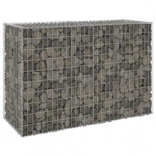 vidaXL Gabionenwand mit Abdeckung Verzinkter Stahl 150x60x100 cm