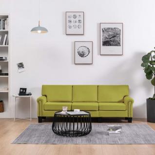 vidaXL 3-Sitzer-Sofa Grün Stoff