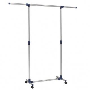 vidaXL Verstellbarer Kleiderständer Edelstahl 165x44x150 cm Silber