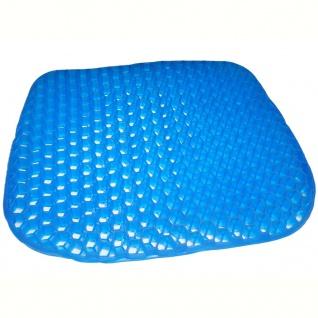 MESA LIVING Komfort-Gel-Sitzkissen Gel Pilow Blau