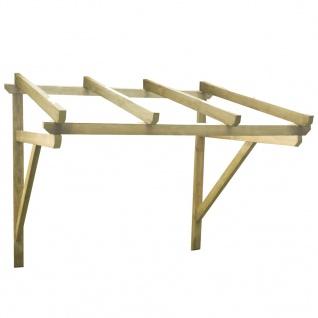 vidaXL Türvordach 150×100×160 cm Kiefer Massivholz
