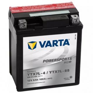 Varta AGM Batterie 12 V 6 Ah YTX7L-4 / YTX7L-BS