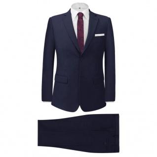 vidaXL 2-tlg. Business-Anzug für Herren Marineblau Gr. 46