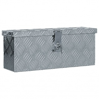 vidaXL Aluminiumkiste 48, 5 x 14 x 20 cm Silbern