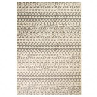 vidaXL Teppich Modern Zickzack-Design 120 x 170 cm Beige/Grau