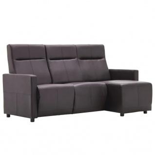 vidaXL Sofa L-förmig Verstellbar Kunstlederpolsterung Braun