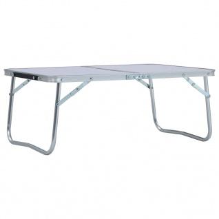 vidaXL Klappbarer Campingtisch Weiß Aluminium 60 x 40 cm