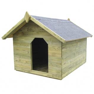 vidaXL Hundehütte mit öffnendem Dach Imprägniertes Kiefernholz