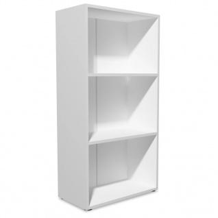 vidaXL Bücherregal Spanplatte 60x31x116, 5 cm Weiß - Vorschau 2