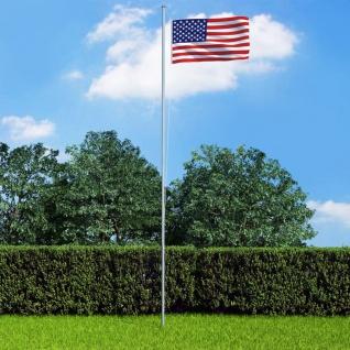 vidaXL Flagge der Vereinigten Staaten und Mast Aluminium 6, 2 m