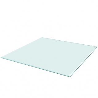 vidaXL Tischplatte aus gehärtetem Glas quadratisch 800x800 mm - Vorschau 1