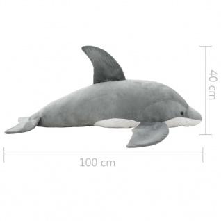 vidaXL Delphin Kuscheltier Plüsch Grau - Vorschau 5