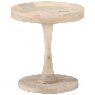 vidaXL Beistelltisch Ø40x45 cm Mango Massivholz