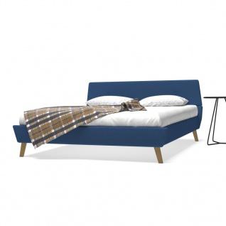 vidaXL Bett mit Memory-Schaum-Matratze 160 x 200 cm Stoff Blau