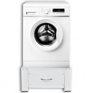 vidaXL Waschmaschinensockel mit Schublade Weiß - Vorschau 2