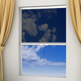 Weißes aufrollbares Insektengitter für Fenster 100 x 170 cm
