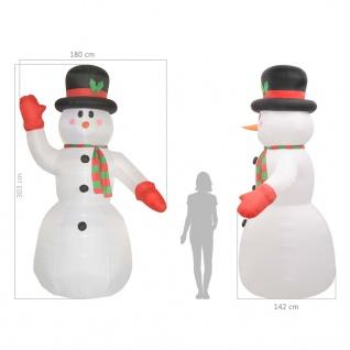 vidaXL Aufblasbarer Schneemann Weihnachten LED IP44 300 cm - Vorschau 5