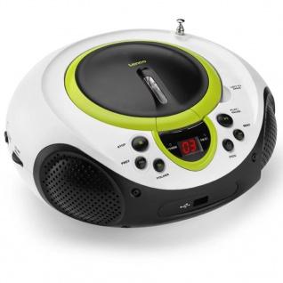 Lenco Radio CD-Player SCD-38 grün und weiß A001217