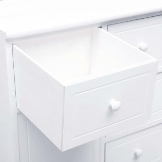 vidaXL Sideboard mit 10 Schubladen Weiß 113 x 30 x 79 cm Holz - Vorschau 2