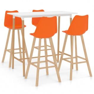 vidaXL 5-tlg. Bar-Set Orange