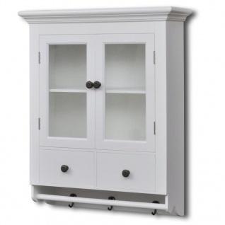 vidaXL Küchenhängeschrank mit Glastür Holz Weiß