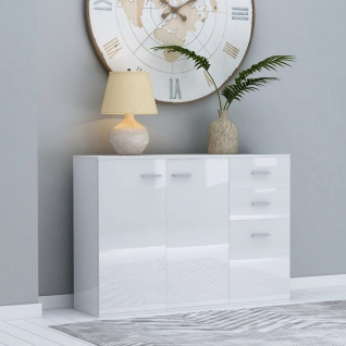 vidaXL Sideboard Hochglanz-Weiß 105 x 30 x 75 cm Spanplatte - Vorschau 1