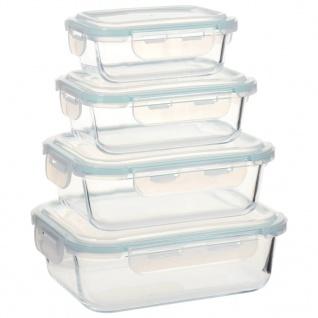 vidaXL Glas-Lebensmittelbehälter 4 Stk.