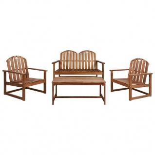 vidaXL 4-tlg. Garten-Lounge-Set Massivholz Akazie