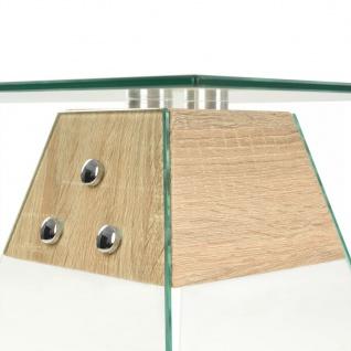 vidaXL Beistelltisch MDF und Glas 45 x 45 x 45 Eichenoptik - Vorschau 4