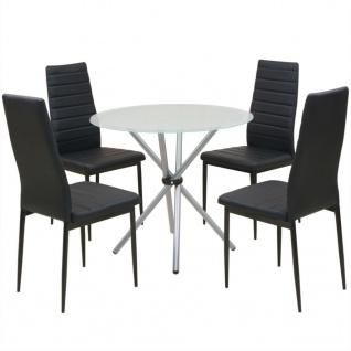 vidaXL 5-tlg. Essgruppe Esstisch mit Stühlen
