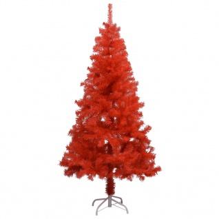 vidaXL Künstlicher Weihnachtsbaum mit Ständer Rot 150 cm PVC