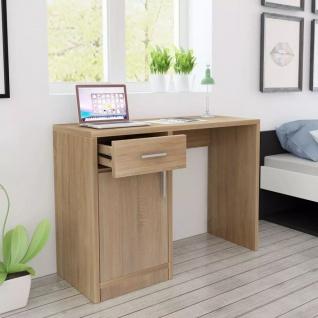 vidaXL Schreibtisch mit Schublade und Schrank Eiche 100x40x73 cm