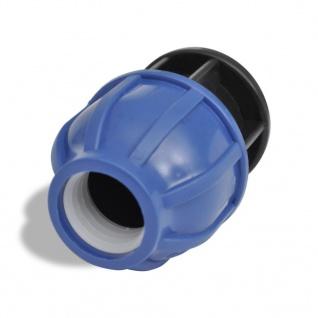 2 x PE Rohr Verschraubungen mit Endstopfen 25 mm