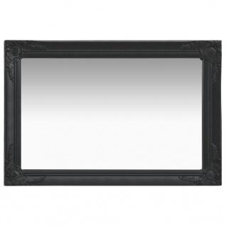 vidaXL Wandspiegel im Barock-Stil 60 x 40 cm Schwarz