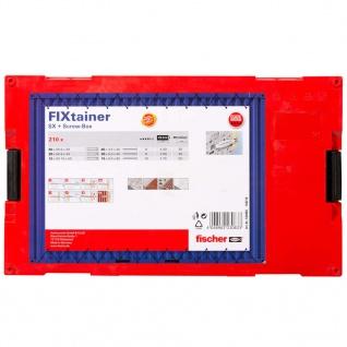 Fischer SX Dübel & Schrauben-Set FIXtainer 210 Stk. - Vorschau 2