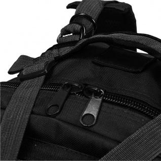 vidaXL Rucksack Armee-Stil 50 L Schwarz - Vorschau 5