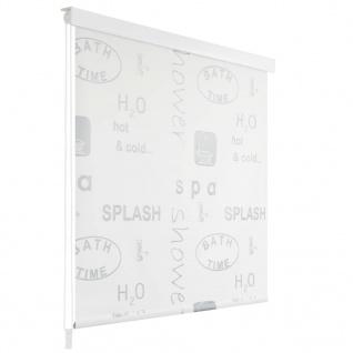vidaXL Duschrollo 120 x 240 cm Splash-Design