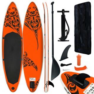 vidaXL Aufblasbares Stand Up Paddle Board Set 320x76x15 cm Orange