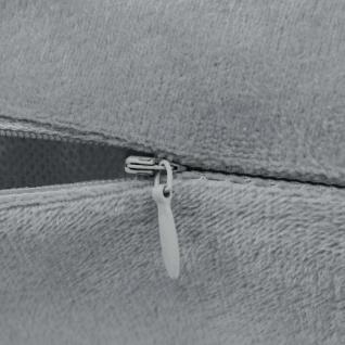 vidaXL Kissenbezüge 4 Stk. Velours 80 x 80 cm Grau - Vorschau 2