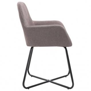 vidaXL Esszimmerstühle 2 Stk. Taupe Stoff - Vorschau 5
