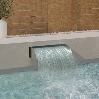 vidaXL Wasserfall mit LEDs 60x34x14 cm Edelstahl 304