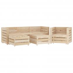 vidaXL 6-tlg. Garten-Lounge-Set aus Paletten Holz