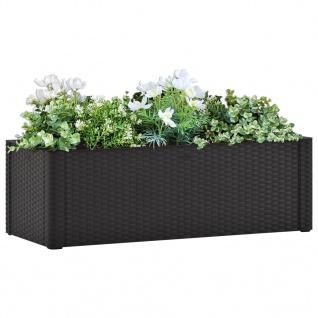 vidaXL Garten-Hochbeet Selbstbewässerungssystem Anthrazit 100x43x33 cm