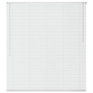 vidaXL Fensterjalousien Aluminium 100x220 cm Weiß
