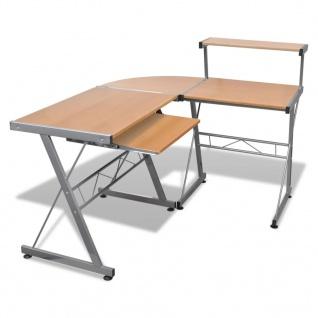 Computertisch Schreibtisch Arbeitstisch Ecktisch PC Tisch BÜRO braun