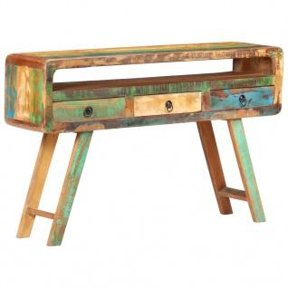 vidaXL Sideboard 120x30x75 cm Recyceltes Massivholz