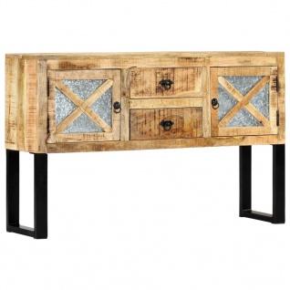 vidaXL Sideboard 120 x 30 x 74 cm Mango-Massivholz