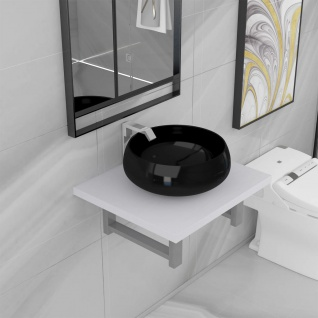vidaXL 2-tlg. Badmöbel-Set Keramik Weiß